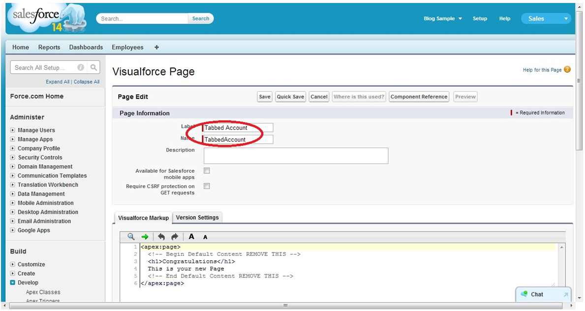 Create a Visualforce page